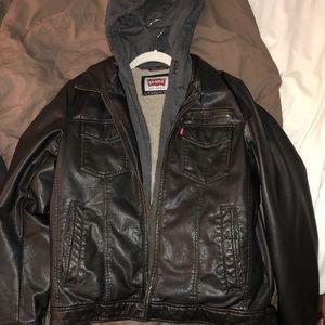 Levi's classic Sherpa trucker leather jacket.